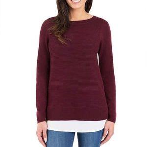 Hilary Radley Two-fer Sweater in Wine